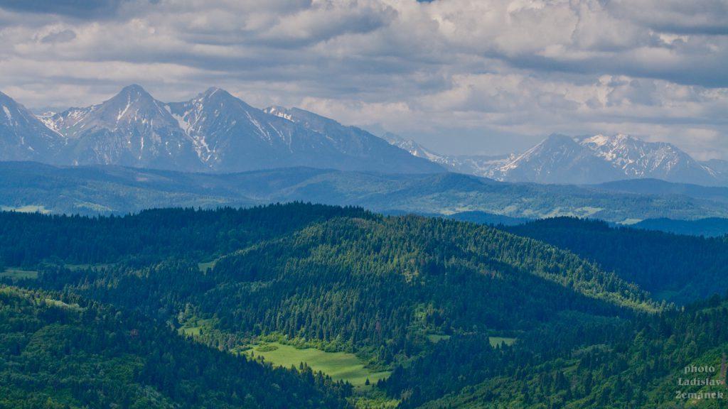 Pieniny - výhled na Tatry