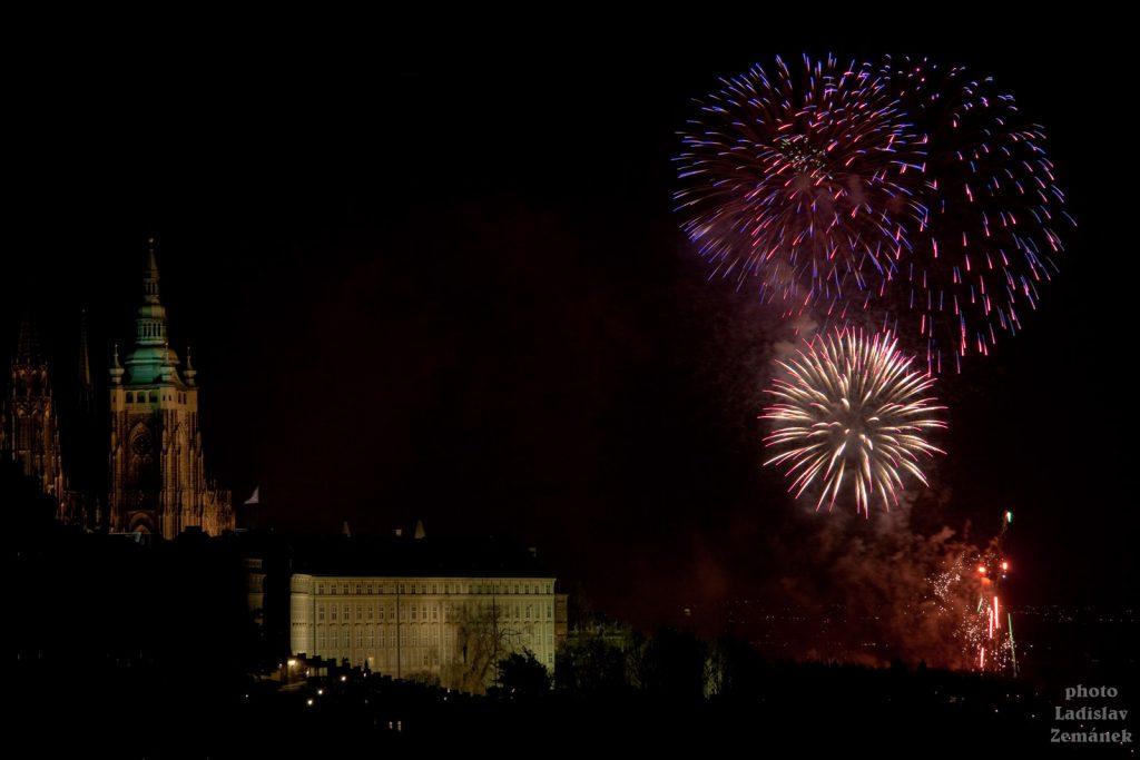 Pražský hrad - ohňostroj