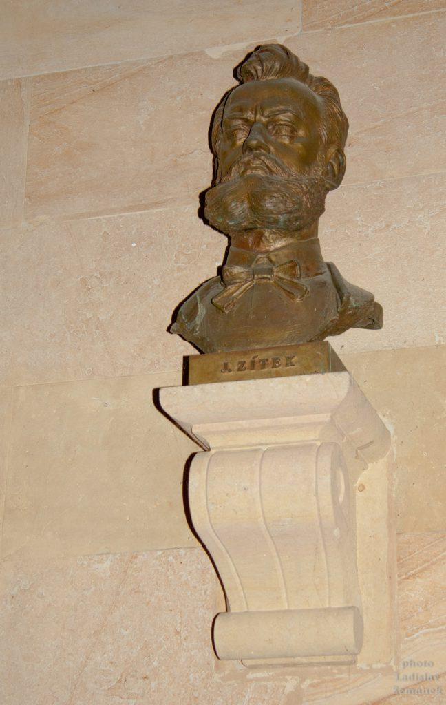 Busta Josef Zítek - Mlýnská kolonáda