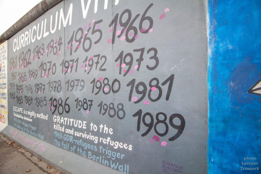 Berlínská zeď - East Side Gallery - počet obětí berlínské zdi