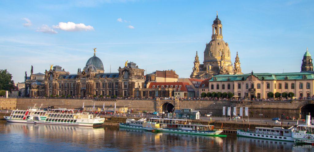 Drážďany - Frauenkirche jako dominanta centra