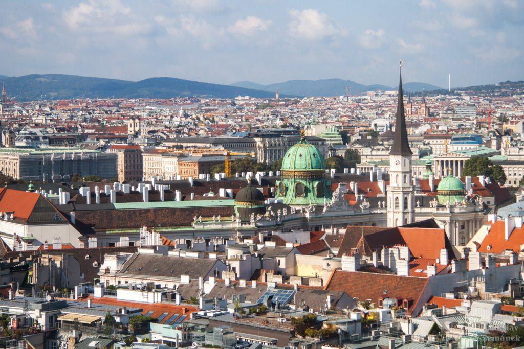 Katedrála svatého Štěpána - výhled na Vídeň