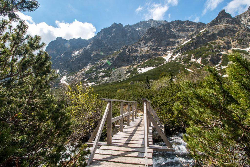 Veľká Studená dolina - dřevěná lávka