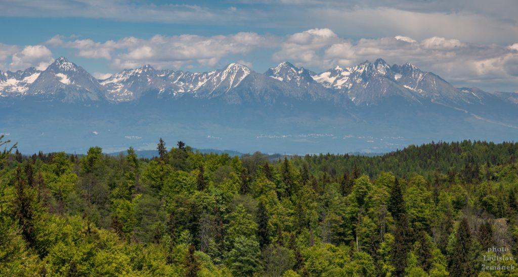 Slovenský ráj - výhled na Tatry