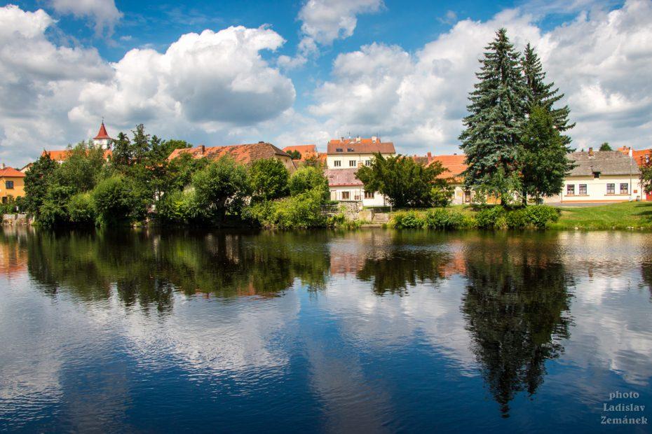 Výhled na Horažďovice a řeku Otavu