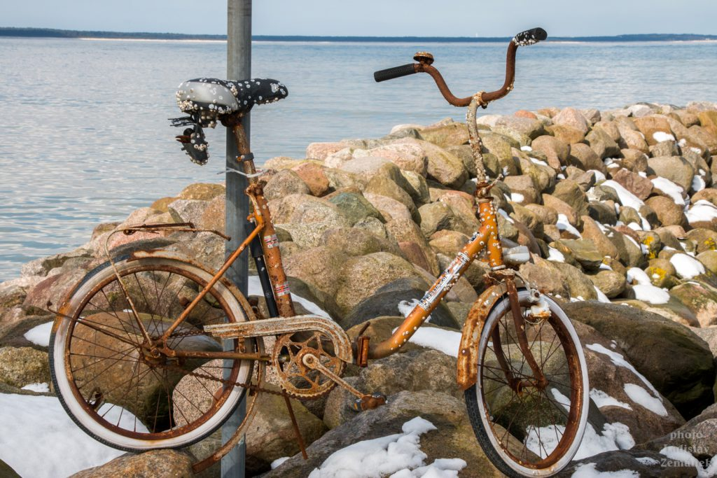 Velikonoce na Rujáně - kolo na pláži v Glowe
