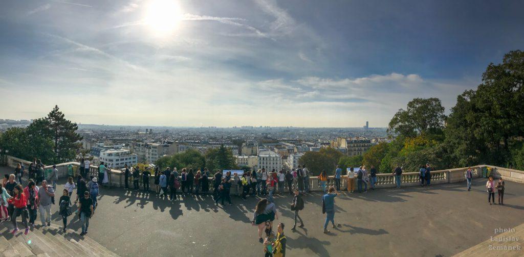 Paříž - Montmartre - výhled na město
