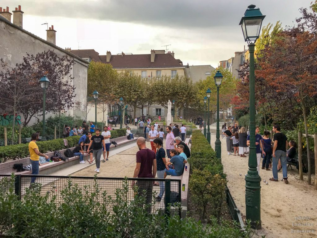 Paříž - Montmartre - hřiště na petanque