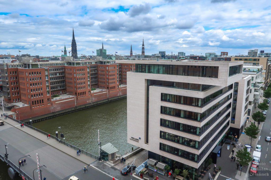 Hamburk - Labská filharmonie - výhled