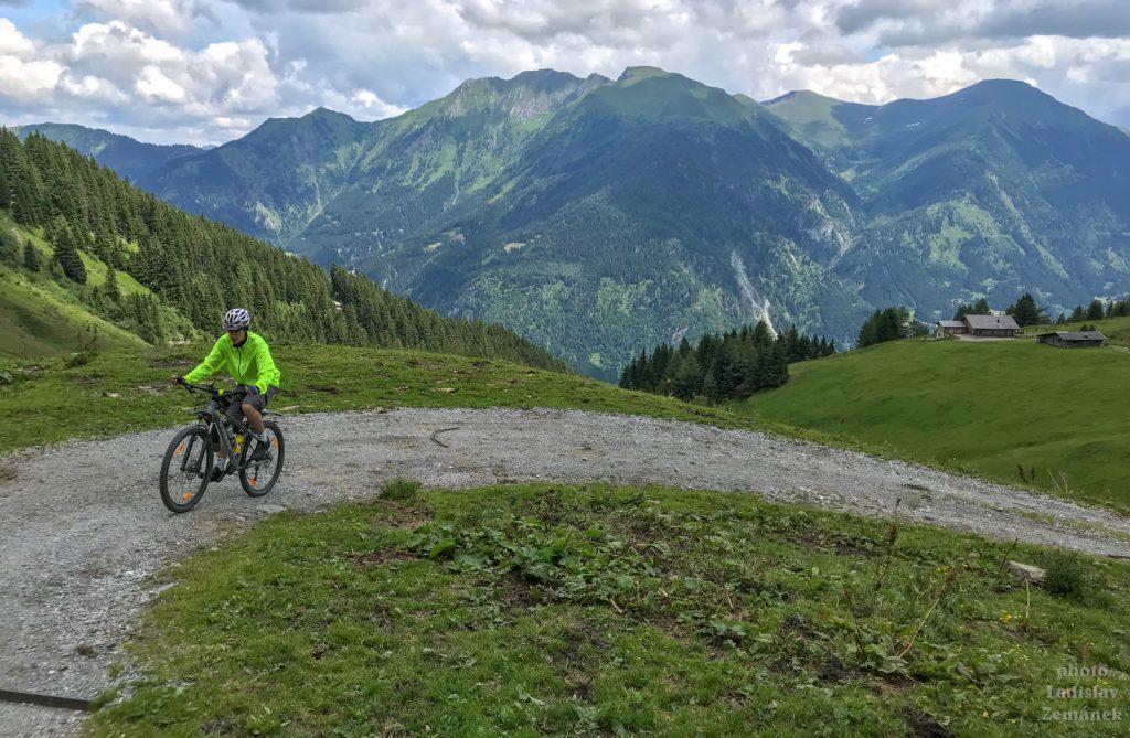 na kole z bad gastein na Schmaranzhütte