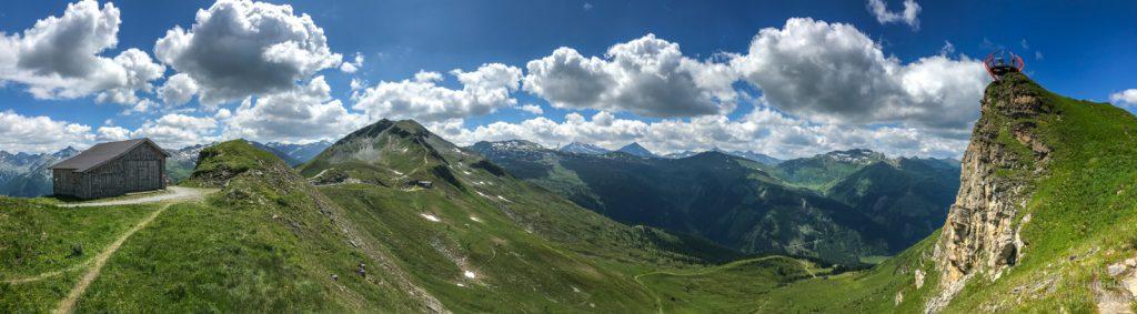 vyhlídková plošina Glocknerblick - panorama