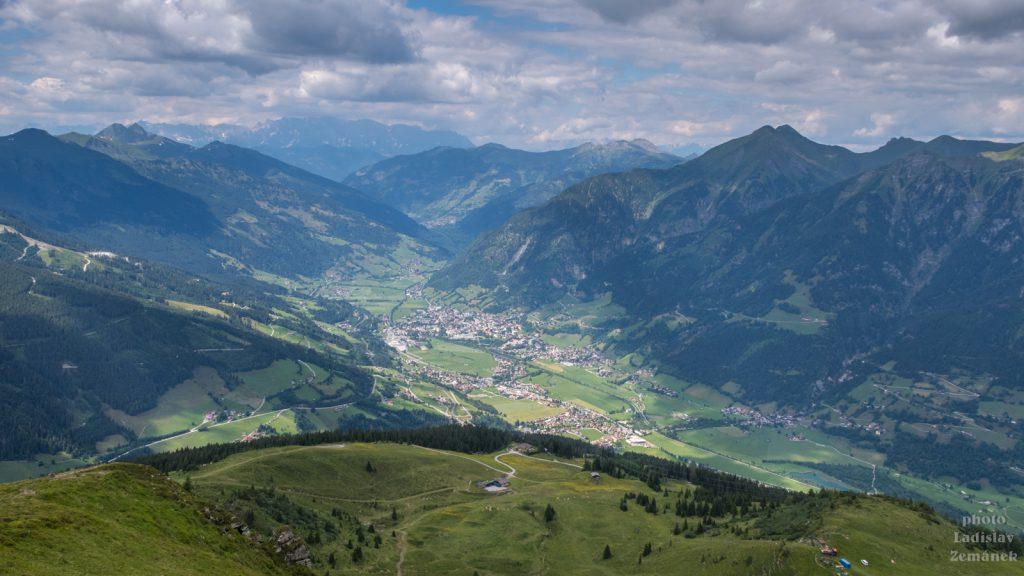 Výhled na Gasteinské údolí