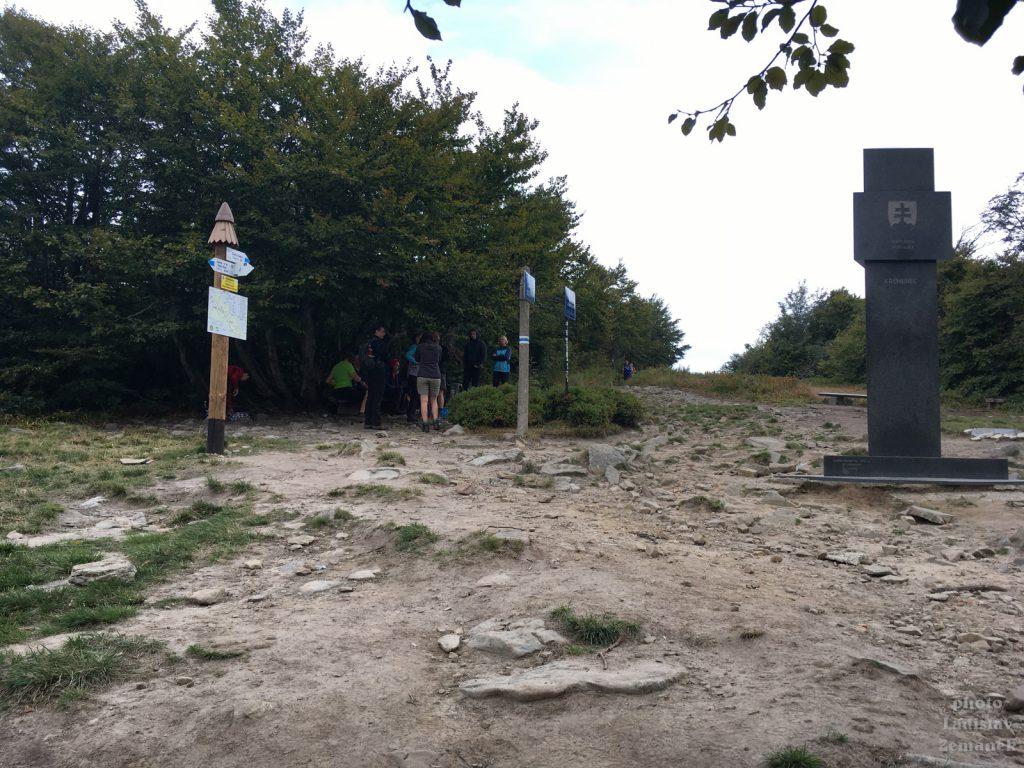 Vrch Kremenec - hranice - Polsko - Slovensko - Ukrajina