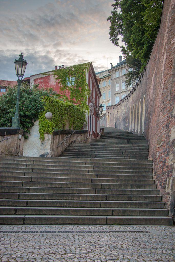 Praha bez lidí - Zámecké schody