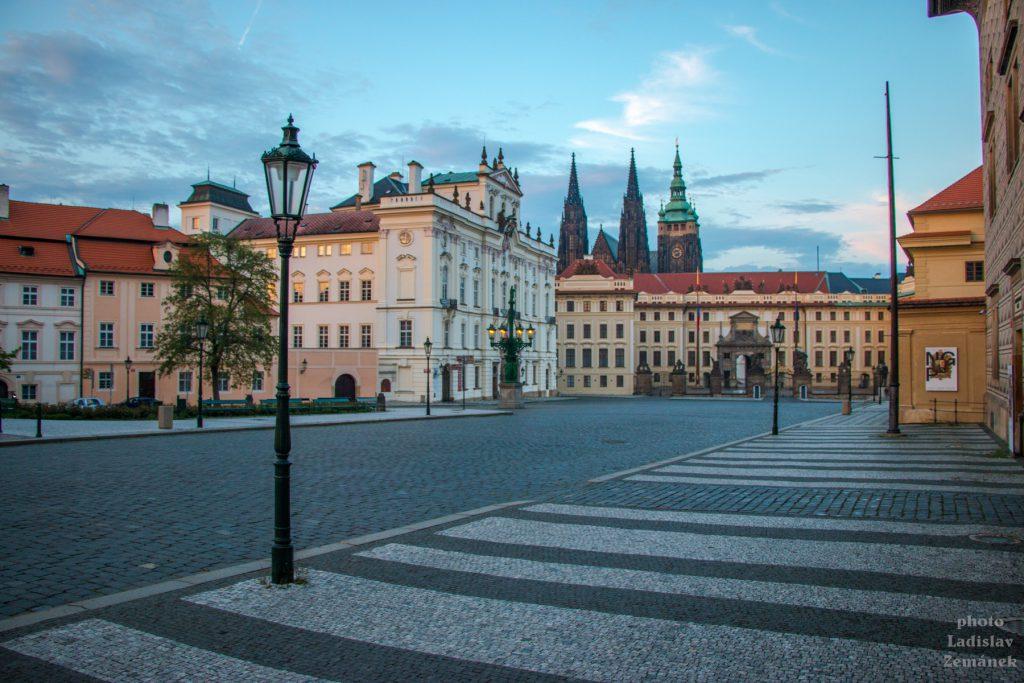 Praha bez lidí - Hradčanské náměstí