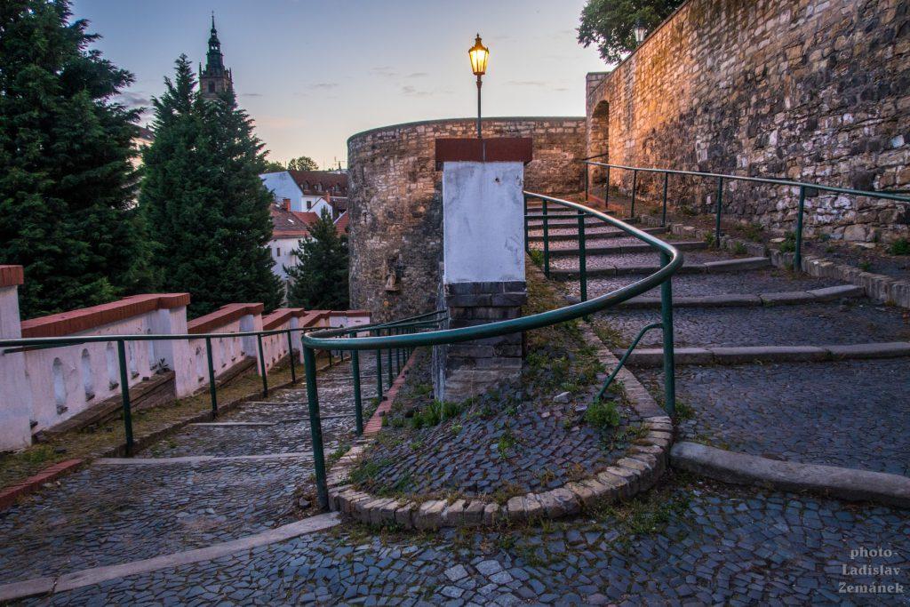 Litoměřice - Máchovy schody - večer