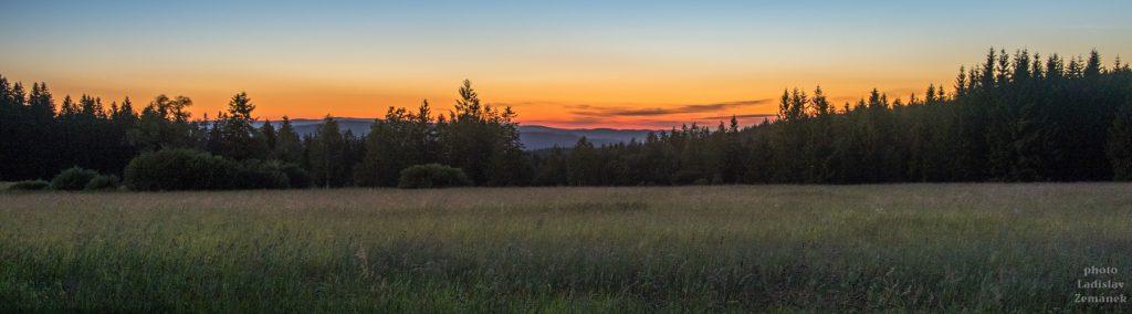 Zhůří - západ Slunce