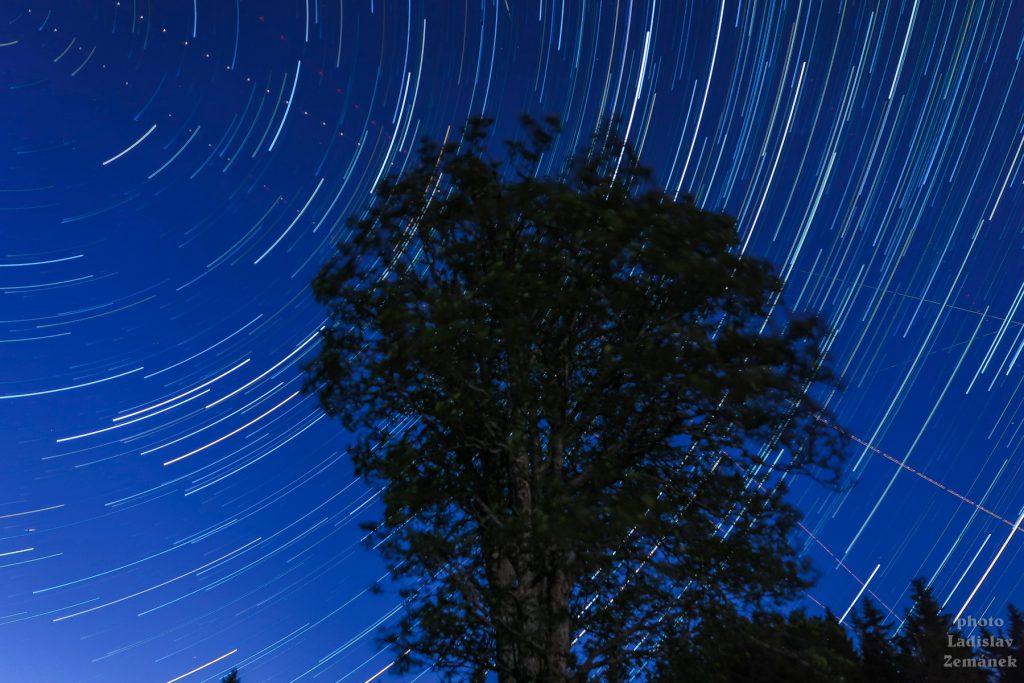 stopy hvězd (startrails) - Zhůří
