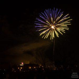 Novoroční ohňostroj Praha