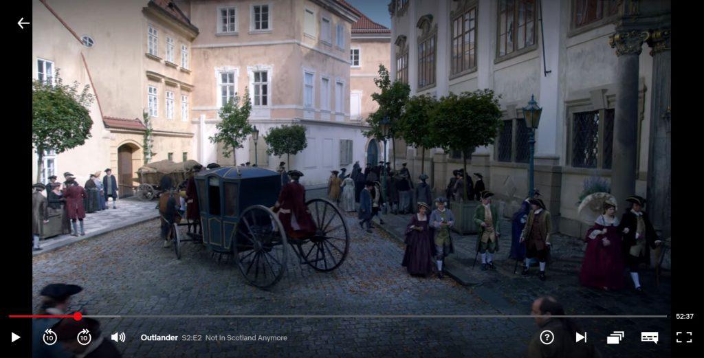 Praha - Paříž v seriálu Outlander
