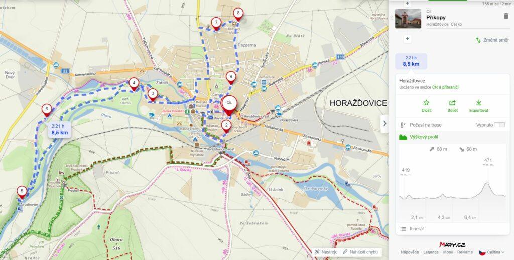 mapa – horažďovice