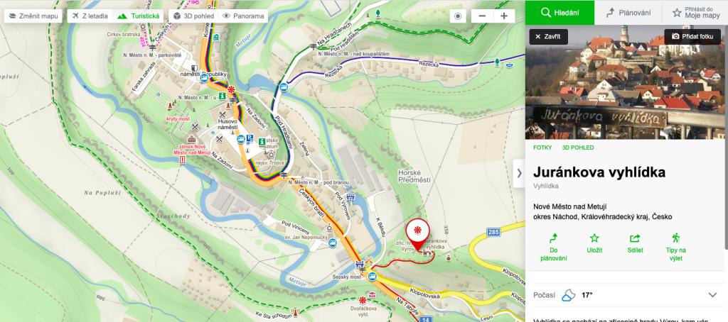 Nové Město nad Metují - mapa