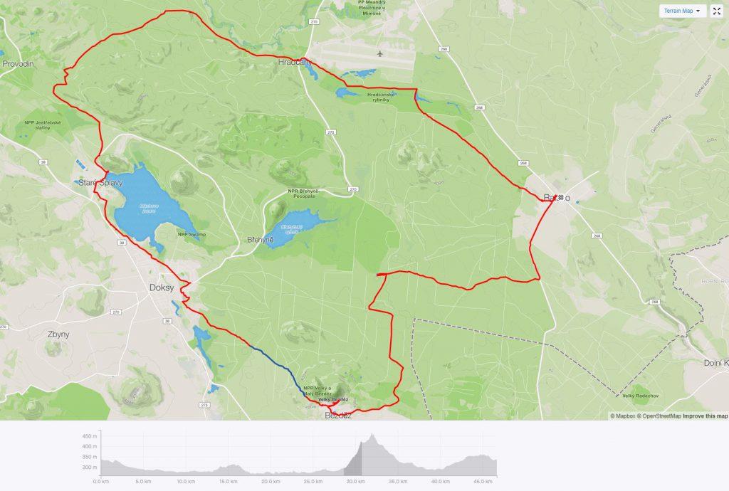 ralsko-máchovo jezero-bezděz-mapa