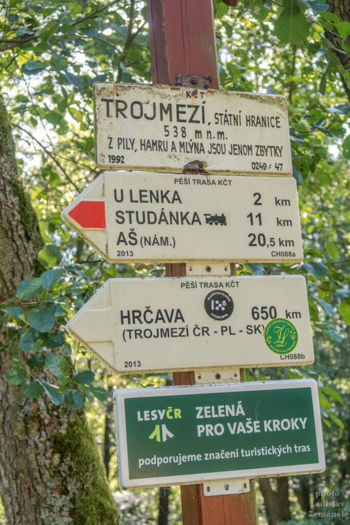 Trojmezí - Československo + bývalé východní a západní Německo