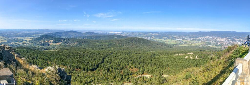 Ještěd - panoramatický výhled