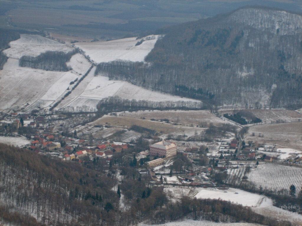 Milešovka - zimní výhled