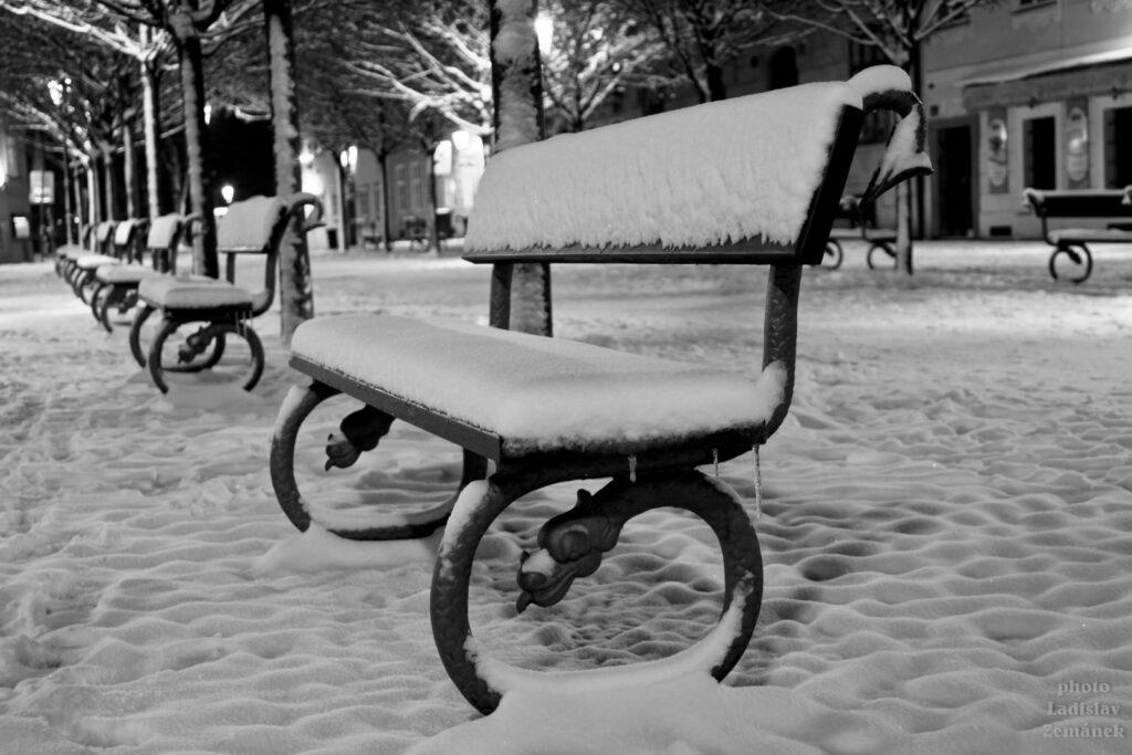 Sníh na Kampě