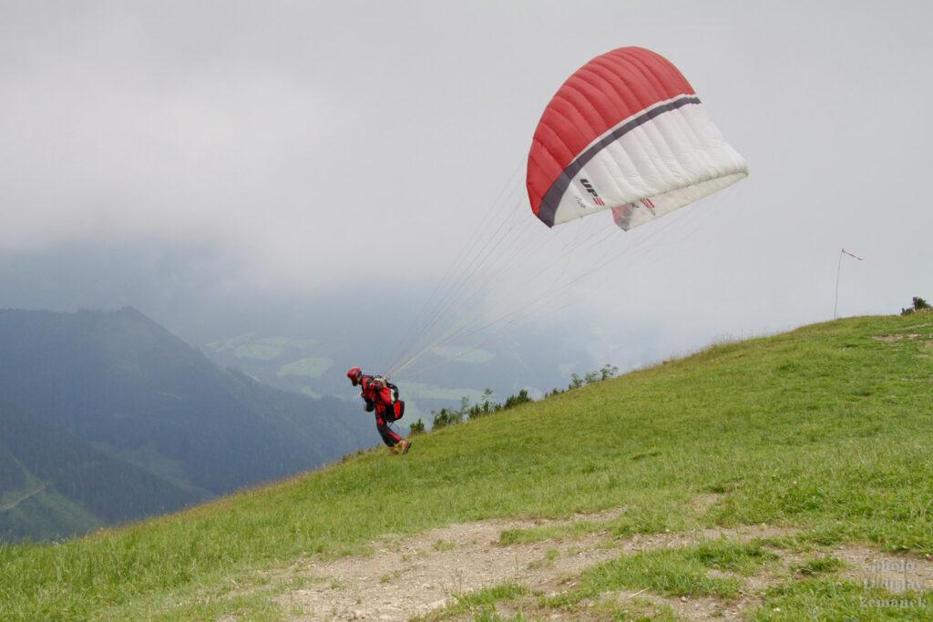 Paraglide na Bischlinghöhe