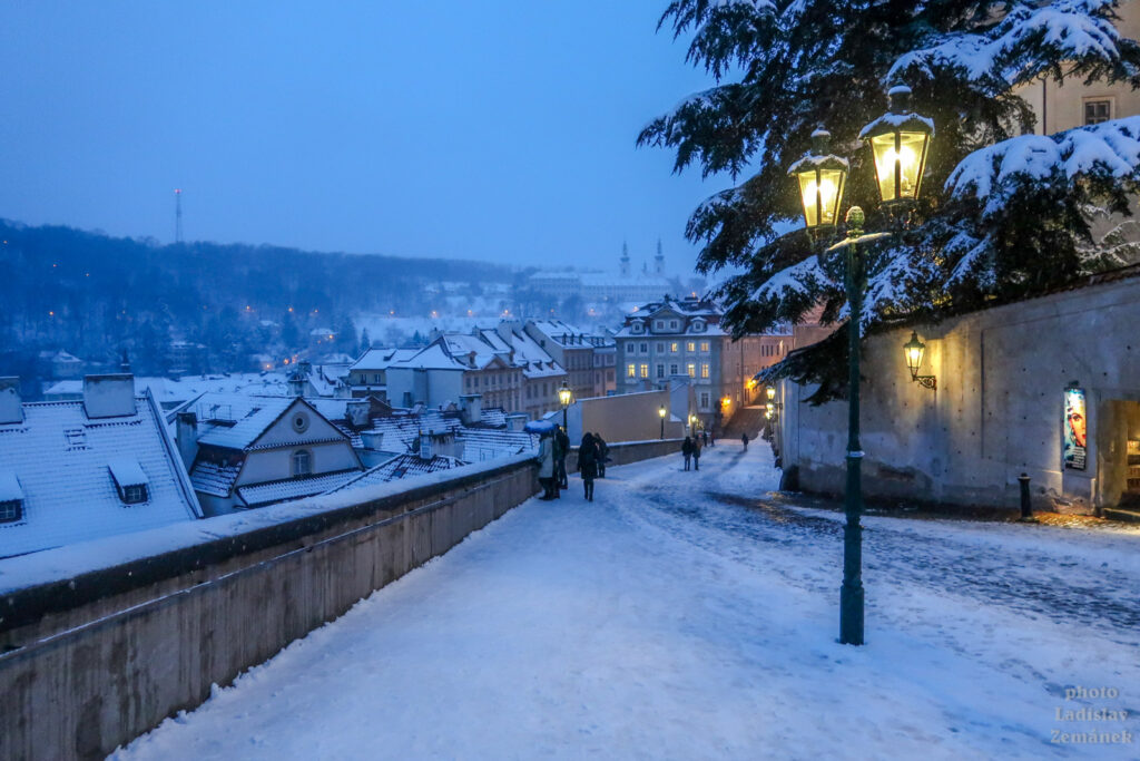 Sníh v Praze - Hradčany