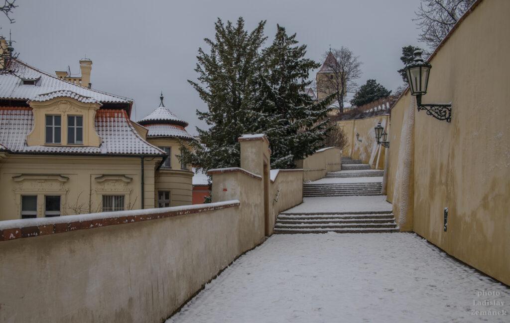 Sníh na Starých zámeckých schodech