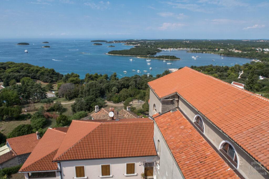 Vrsar - výhled z věže kostela sv. Martina