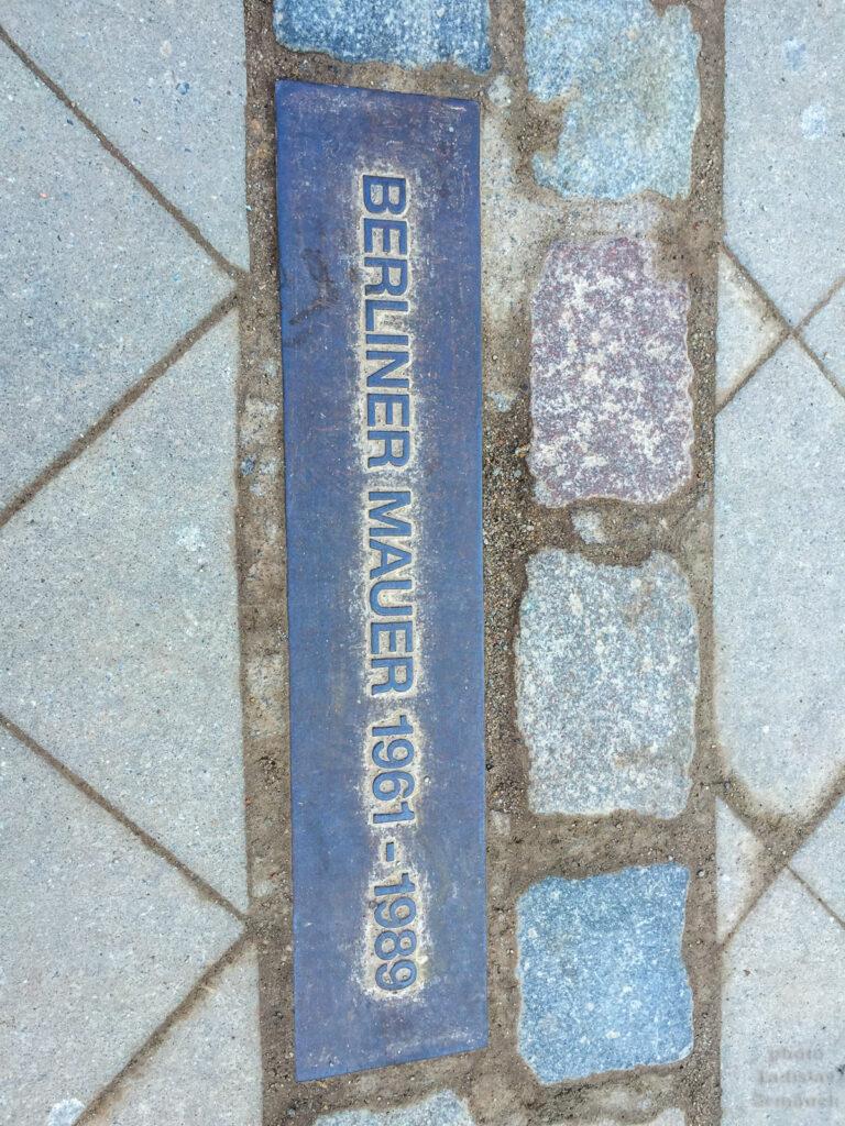 Berlínská zeď a její linie - tudy vedla