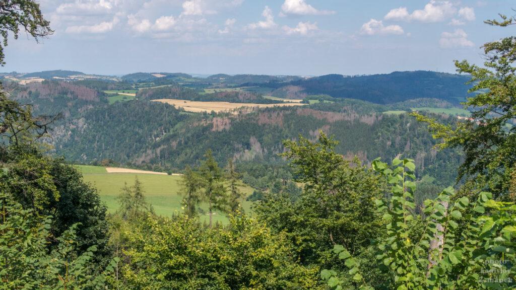 zřícenina - hrad Zubštejn - výhled