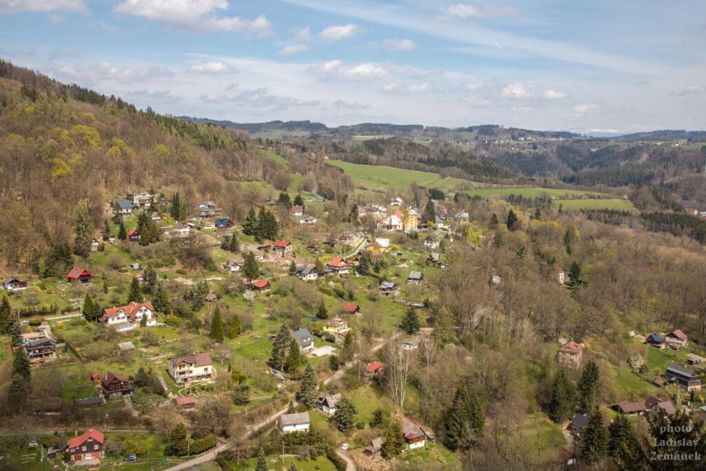 Český ráj - skalní hrad Vranov - Pantheon - výhled