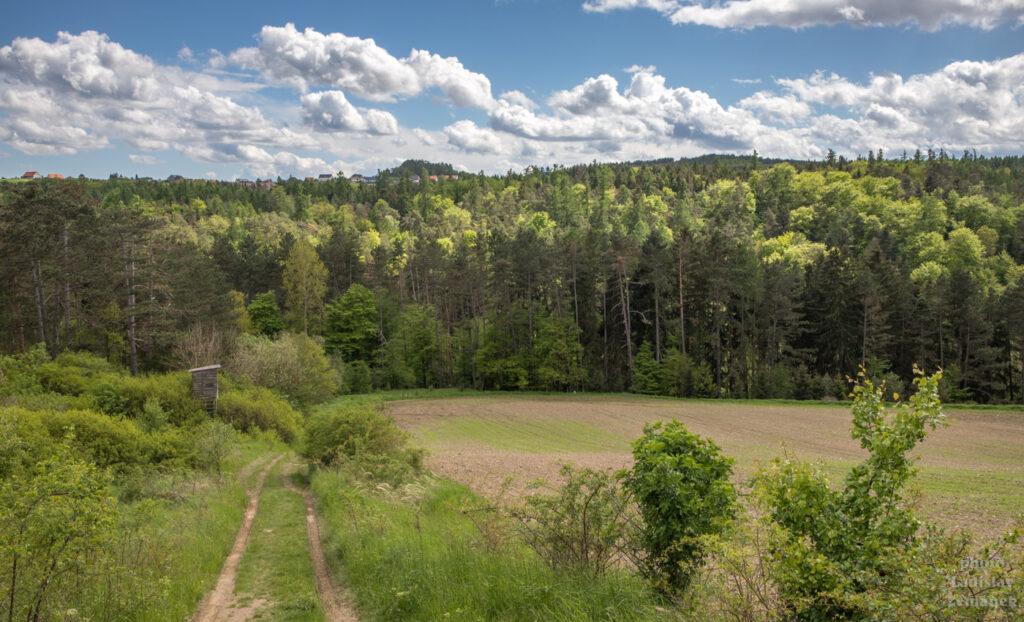 Cesta ze Svaté do Hudlic