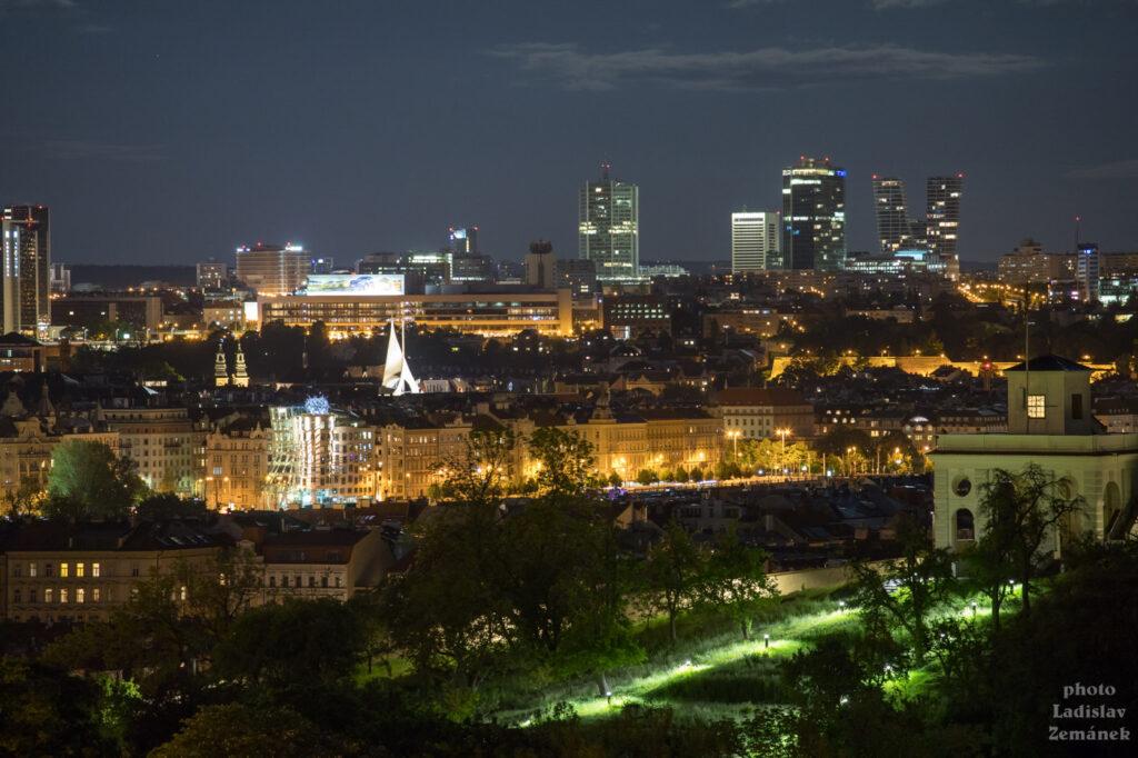 Večerní výhled od Pražského hradu