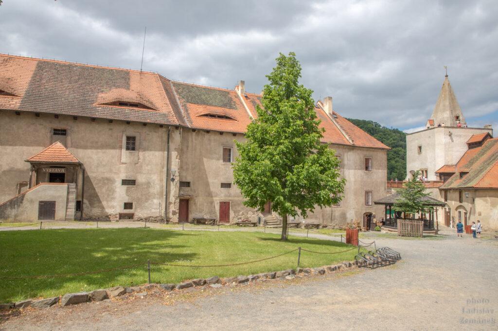 hrad Křivoklát - nádvoří
