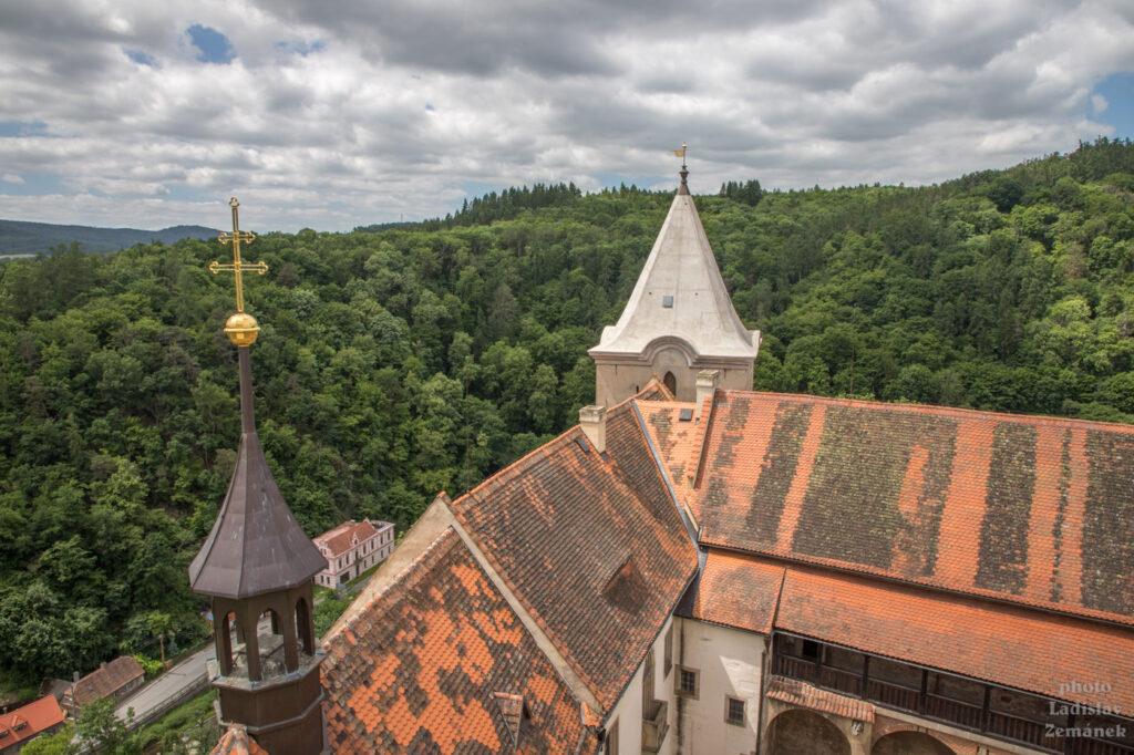 hrad Křivoklát - Velká věž - výhled