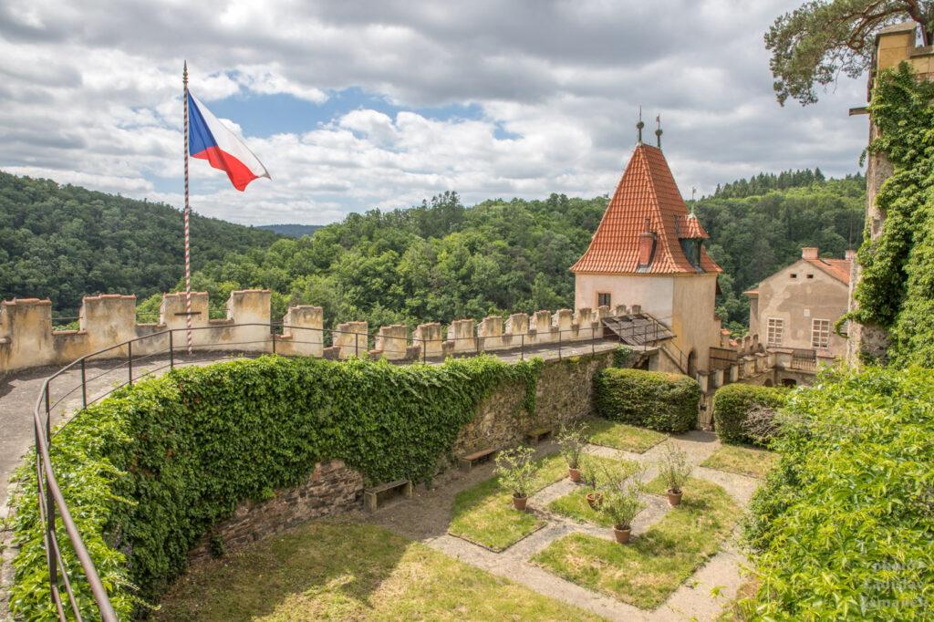 hrad Křivoklát - hradby