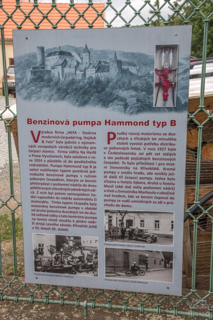 Křivoklát- historická benzinová pumpa