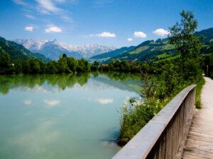 Řeka Salzach a Tauernská cyklostezka