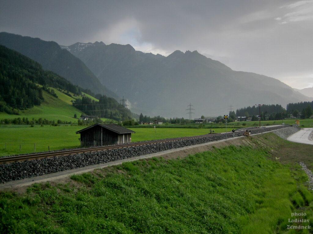 Tauernská cyklostezka po dešti
