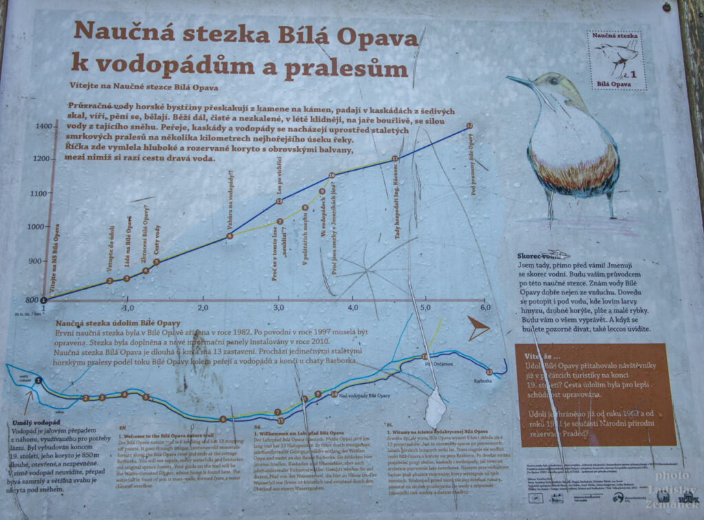 Údolí Bílé Opavy - tabule