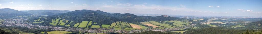 Rozhledna Zlatý Chlum - panoramatický výhled