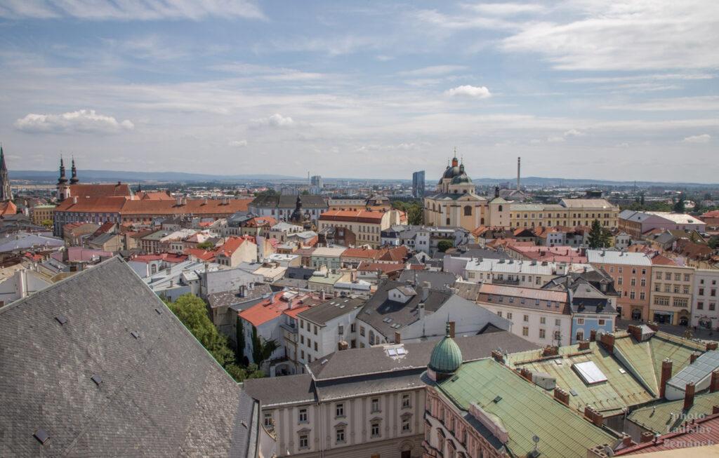 Svatý Mořic - výhled na Olomouc z věže