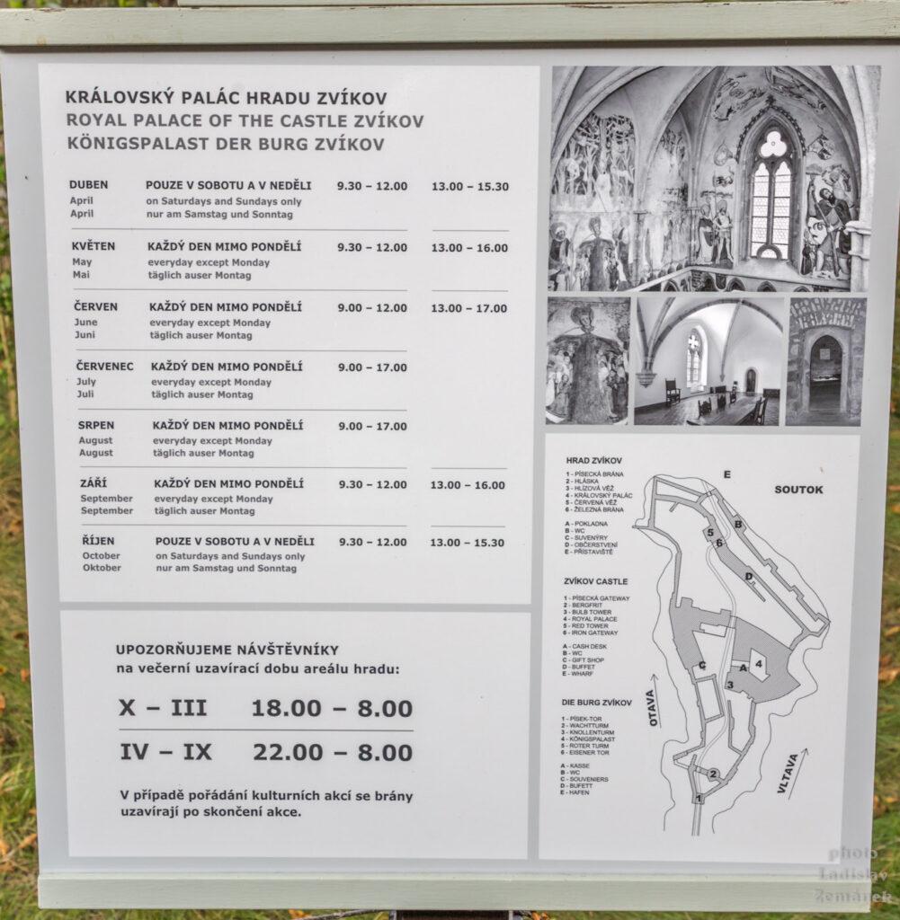 Hrad Zvíkov - otevírací doba